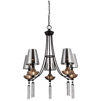 Savoy House Avington 5 Light Chandelier in Ebony with Titian Accents 1-210-5-19 photo thumbnail