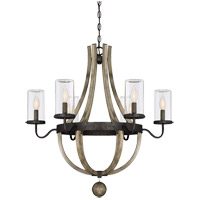 Eden 6 Light 29 inch Weathervane Outdoor Chandelier in Clear