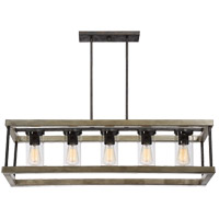 Eden 5 Light 13 inch Weathervane Outdoor Chandelier