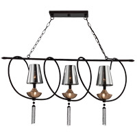 Avington 3 Light 40 inch Ebony with Titian Accents Island Light Ceiling Light