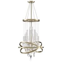 Savoy House 1-2121-6-127 Mannheim 6 Light 19 inch Noble Brass Chandelier Ceiling Light