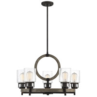 Hartman 5 Light 27 inch Noblewood with Iron Chandelier Ceiling Light