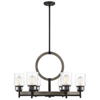 Hartman 6 Light 30 inch Noblewood with Iron Chandelier Ceiling Light