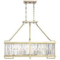 Savoy House 1-2142-8-127 Cologne 8 Light 36 inch Noble Brass Linear Chandelier Ceiling Light