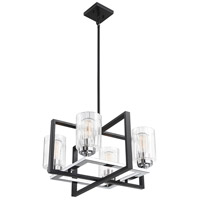 Savoy House 1-2150-4-67 Redmond 4 Light 20 inch Matte Black with Polished Chrome Accents Chandelier Ceiling Light alternative photo thumbnail