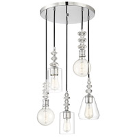 Savoy House 1-2153-5-11 Apollo 5 Light 18 inch Polished Chrome Chandelier Ceiling Light alternative photo thumbnail