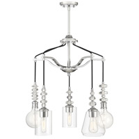 Savoy House 1-2159-5-11 Apollo 5 Light 25 inch Polished Chrome Pendant Ceiling Light