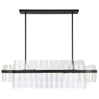 Savoy House 1-2166-8-13 Hansen 8 Light 42 inch English Bronze Linear Chandelier Ceiling Light