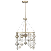 Savoy House 1-2177-3-211 Droplet 3 Light 18 inch Argentum Chandelier Ceiling Light