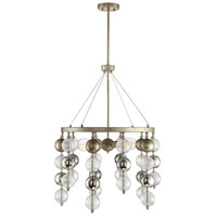 Savoy House 1-2178-5-211 Droplet 5 Light 25 inch Argentum Chandelier Ceiling Light