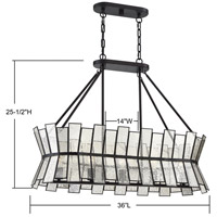 Savoy House 1-2192-5-13 Chapelle 5 Light 36 inch English Bronze Linear Chandelier Ceiling Light alternative photo thumbnail