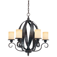 Savoy House Carmel 4 Light Chandelier in Slate 1-220-6-25