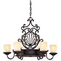 San Gallo 6 Light 28 inch Slate Chandelier Ceiling Light