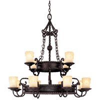 San Gallo 12 Light 37 inch Slate Chandelier Ceiling Light in Cream Scavo Candles