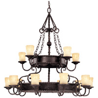 San Gallo 15 Light 45 inch Slate Chandelier Ceiling Light in Cream Scavo Candles