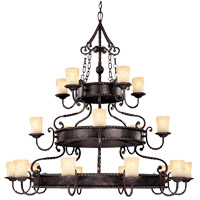 San Gallo 20 Light 53 inch Slate Chandelier Ceiling Light in Cream Scavo Candles