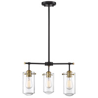 Clayton 3 Light 20 inch English Bronze and Warm Brass Chandelier Ceiling Light