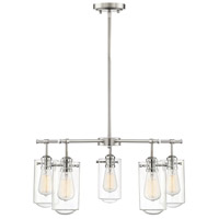 Clayton 5 Light 25 inch Satin Nickel with Chrome Accents Chandelier Ceiling Light
