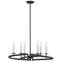 Savoy House 1-2271-6-145 Monteray 6 Light 28 inch Black with Satin Nickel Chandelier Ceiling Light