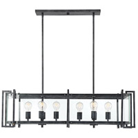 Savoy House 1-2280-8-150 Bennington 8 Light 40 inch Black Steel Linear Chandelier Ceiling Light