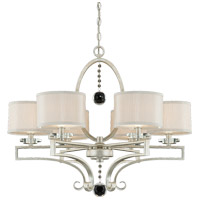 Savoy House Rosendal 6 Light Chandelier in Silver Sparkle 1-250-6-307