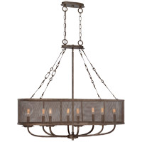 Nouvel 8 Light 22 inch Galaxy Bronze Chandelier Ceiling Light