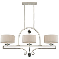 Rosendal 3 Light 42 inch Silver Sparkle Linear Chandelier Ceiling Light