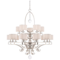 Savoy House 1-254-15-307 Rosendal 15 Light 52 inch Silver Sparkle Chandelier Ceiling Light