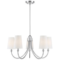 Savoy House 1-2540-5-109 Cameron 5 Light 29 inch Polished Nickel Chandelier Ceiling Light