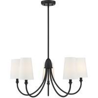 Savoy House 1-2540-5-89 Cameron 5 Light 29 inch Matte Black Chandelier Ceiling Light