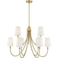 Savoy House 1-2541-9-322 Cameron 9 Light 35 inch Warm Brass Chandelier Ceiling Light