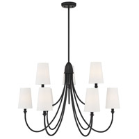 Savoy House 1-2541-9-89 Cameron 9 Light 35 inch Matte Black Chandelier Ceiling Light