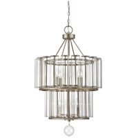 Belmont 7 Light 23 inch Distressed Silver Leaf Chandelier Ceiling Light