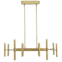 Savoy House 1-2601-20-322 Barnum LED 38 inch Warm Brass Linear Chandelier Ceiling Light