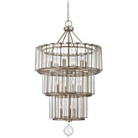Savoy House Belmont 13 Light Chandelier in Distressed Silver Leaf 1-261-13-29