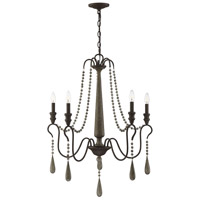 Kenwood 5 Light 29 inch Weathered Ash Chandelier Ceiling Light
