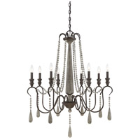 Kenwood 8 Light 33 inch Weathered Ash Chandelier Ceiling Light
