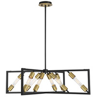 Moritz 8 Light 36 inch English Bronze and Warm Brass Chandelier Ceiling Light
