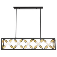 Savoy House 1-2781-12-79 Moritz LED 42 inch English Bronze and Warm Brass Linear Chandelier Ceiling Light