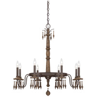 Savoy House Sherwood 8 Light Chandelier in Barn Wood 1-281-8-21