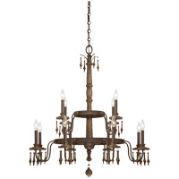 Savoy House Sherwood 12 Light Chandelier in Barn Wood 1-282-12-21