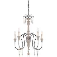 Ashland 5 Light 29 inch White Washed Driftwood Chandelier Ceiling Light