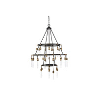 Savoy House 1-2903-35-51 Campbell 35 Light 42 inch Vintage Black with Warm Brass Chandelier Ceiling Light alternative photo thumbnail
