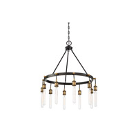 Savoy House 1-2904-10-51 Campbell 10 Light 28 inch Vintage Black with Warm Brass Chandelier Ceiling Light alternative photo thumbnail