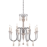Savoy House Ashland 8 Light Chandelier in White Washed Driftwood 1-291-8-23
