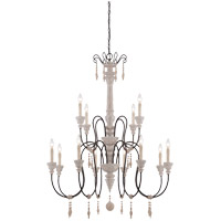 Ashland 12 Light 38 inch White Washed Driftwood Chandelier Ceiling Light
