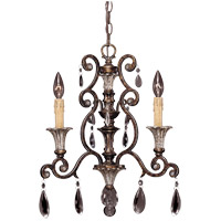St. Laurence 3 Light 17 inch New Tortoise Shell/Silver Chandelier Ceiling Light
