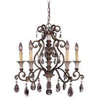 St. Laurence 5 Light 24 inch New Tortoise Shell with Silver Chandelier Ceiling Light