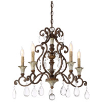 Savoy House 1-3001-5-8 St. Laurence 5 Light 24 inch New Tortoise Shell with Silver Chandelier Ceiling Light alternative photo thumbnail