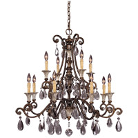 St. Laurence 12 Light 34 inch New Tortoise Shell with Silver Chandelier Ceiling Light